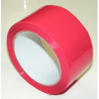 50 mm x 66 m - self adhesive tape, red