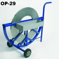 OP-29 decoiler for ribbon steel straps 13-32 mm